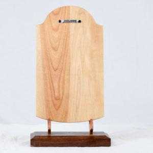 wood tablet plaques back
