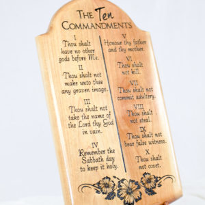ten commandments wood plaque (2)