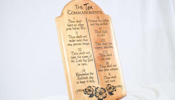 ten commandments wood plaque (2)