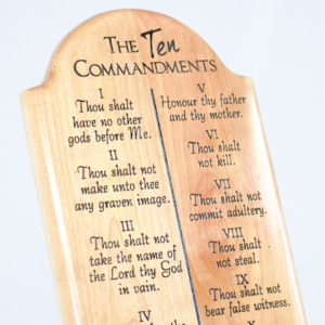 ten commandments wood plaque