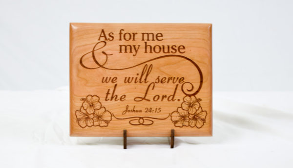 As for me and my house we will serve the Lord with hibiscus Maple 8x10 straight