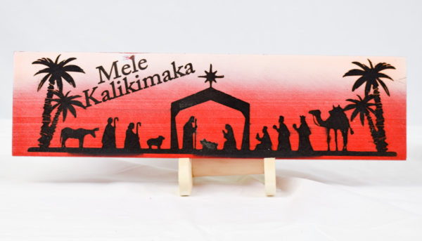 Mele Kalikimaka sign straight