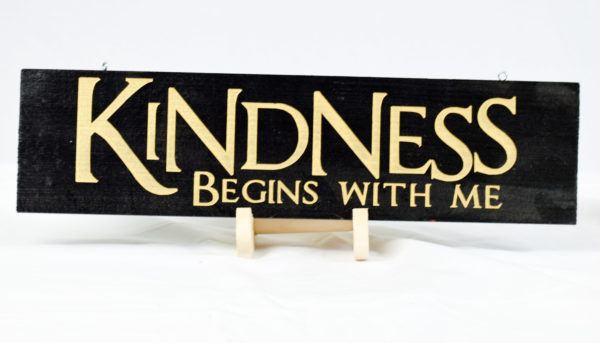 kindness begins with me 4x15 black and gold straight
