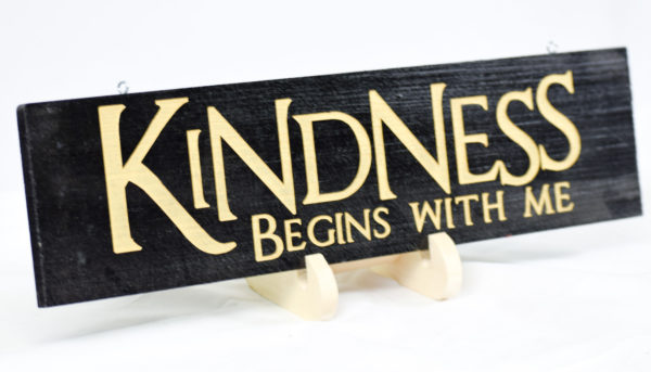 kindness begins with me 4x15 black and gold