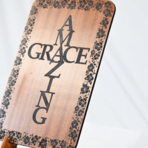 amazing grace plaque hibiscus border