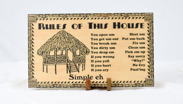 rules of this house hawaiian style