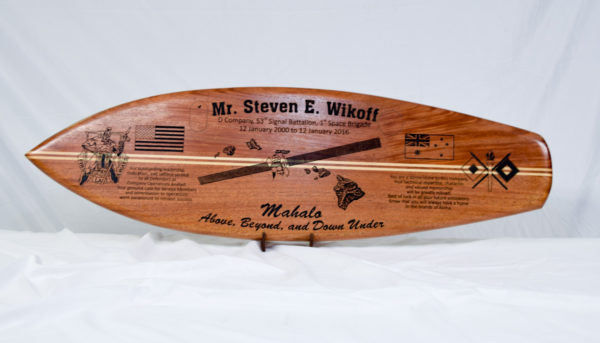 wood surfboard engraving